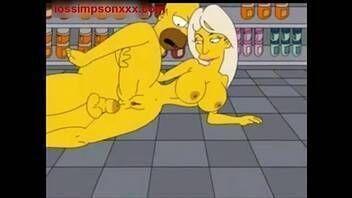 Porno doido Homer traindo Marge com garota de programa