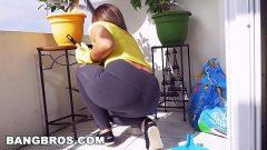 Putariabrasileira gostosa abaixa no chão para dar uma provocada em seu macho