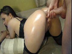 Amadora gostosa dando a bunda na webcam